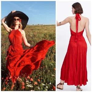 ZARA Halter Top Dress